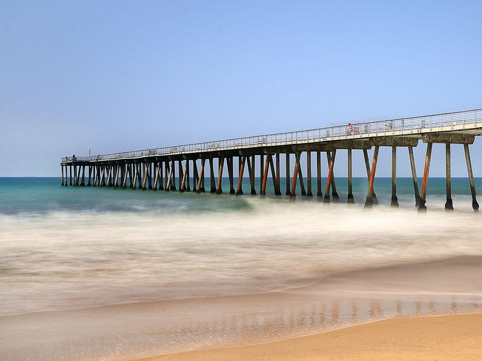 Hermosa Beach Pier in California
