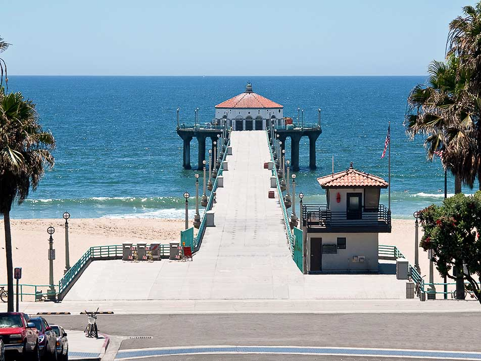 Manhattan Beach Pier, Hermosa Beach